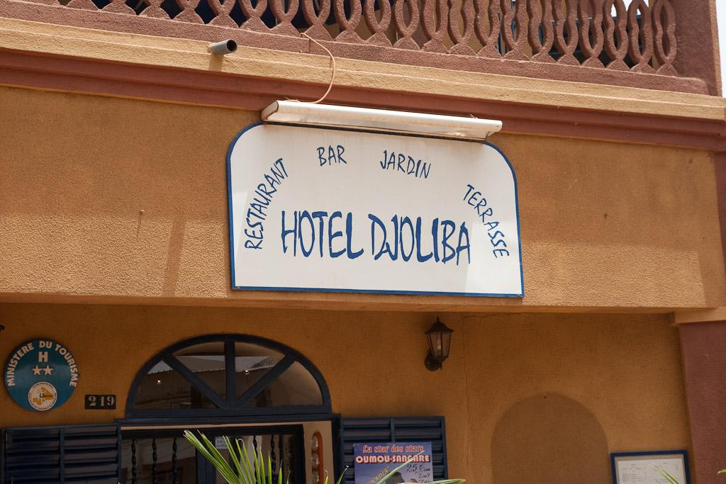Restaurante Djoliba en Segou.