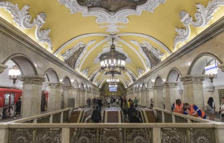 Metro de Moscu (Rusia)